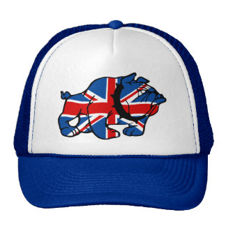 Union Jack Bulldog Trucker Hat