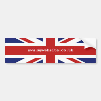 Union Jack Car Bumper Sticker