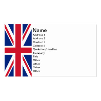 Union Jack Business Cards