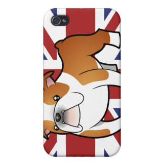 Union Jack Cartoon English Bulldog iPhone 4/4S Case