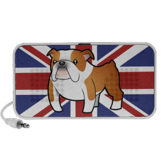 Union Jack Cartoon English Bulldog Portable Speaker