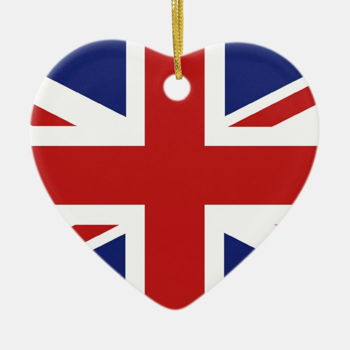 Union Jack Ceramic Heart Decoration