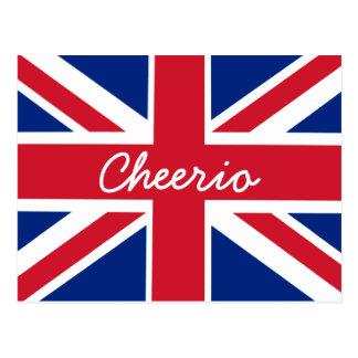 Union Jack Cheerio Postcard