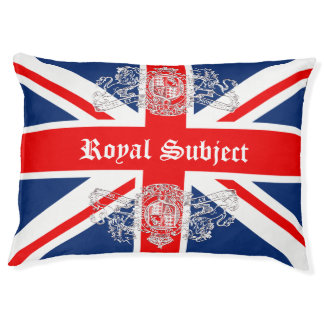 Union Jack & Coat of Arms British Royal Subject Pet Bed