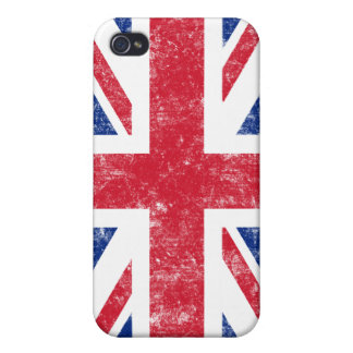 Union Jack (damaged) iPhone4 Case Case For iPhone 4