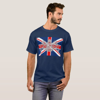 Union Jack Dieu et Mon Droit British Coat of Arms T-Shirt