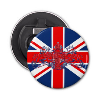 Union Jack Dieu Mon Droit British Coat o Arms