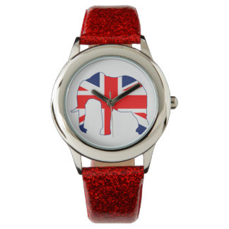Union Jack Elephant British Flag Watch