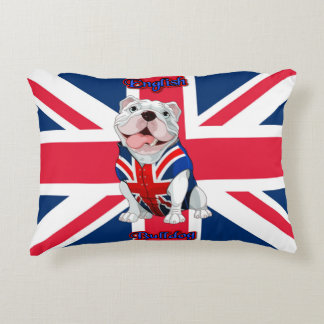 Union Jack English Bulldog Decorative Cushion