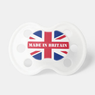 Union jack flag baby pacifier