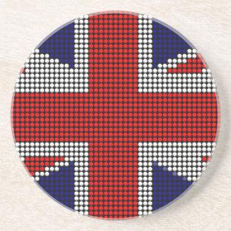 Union jack flag british flag coaster