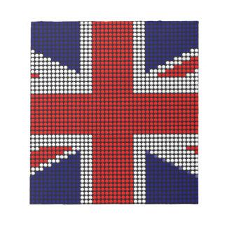 Union jack flag british flag notepad