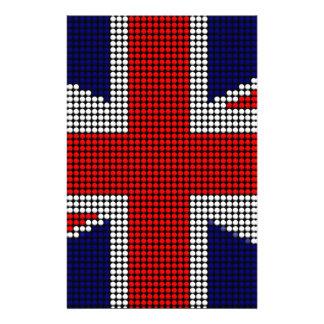 Union jack flag british flag stationery