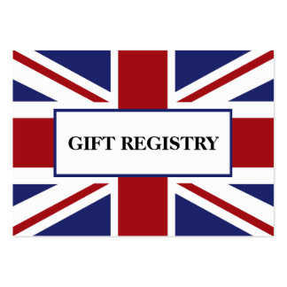 Union Jack Flag British Wedding Gift Registry Pack Of Chubby Business Cards