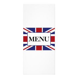 Union Jack Flag British Wedding Menu