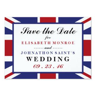 Union Jack Flag British Wedding Save The Date 13 Cm X 18 Cm Invitation Card