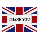 Union Jack Flag British Wedding Thank You Greeting Card