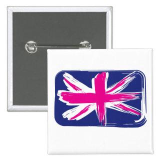 Union Jack Flag Button Badge