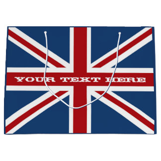 Union Jack Flag Celebration Large Gift Bag