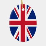 Union Jack Flag Ceramic Oval Decoration