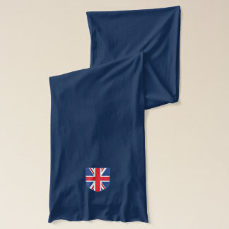 Union Jack Flag Crest Scarf