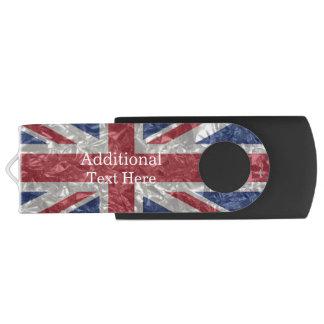 Union Jack Flag - Crinkled USB Flash Drive