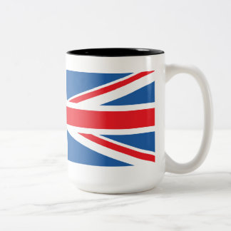 Union Jack/Flag Design Two-Tone Coffee Mug