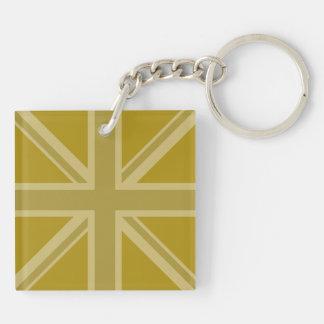 Union Jack/Flag Golds Key Chains