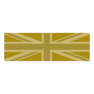 Union Jack/Flag Golds Pack Of Skinny Business Cards