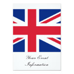 Union Jack Flag Great Britain Party Event Personalized Announcements