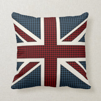 Union Jack Flag Houndstooth Cushion
