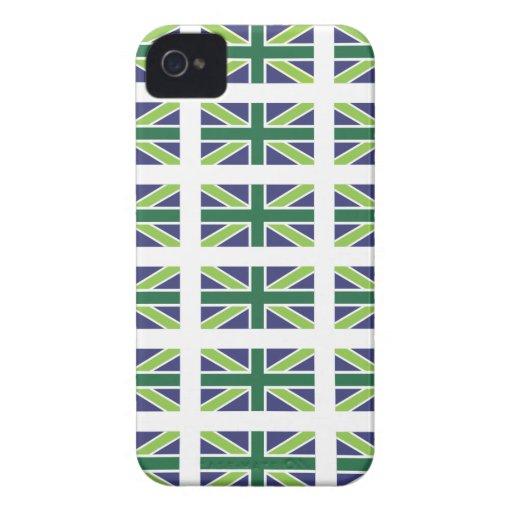Union Jack Flag in Green Blackberry Bold Case