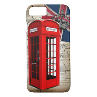 union jack flag jubilee crown red telephone booth iPhone 7 case