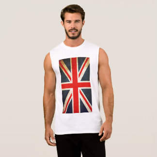 Union Jack Flag Men Ultra Cotton Sleeveless TShirt