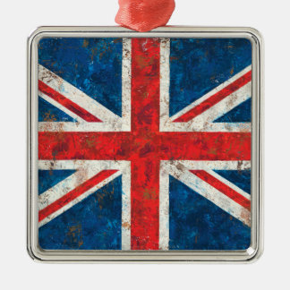 Union Jack Flag Metal Ornament