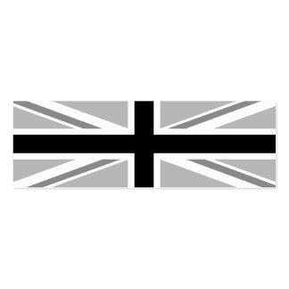 Union Jack/Flag Monochrome Pack Of Skinny Business Cards