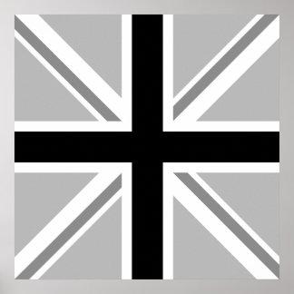 Union Jack/Flag Monochrome Print