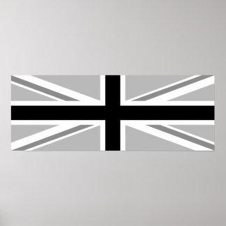 Union Jack/Flag Monochrome Posters