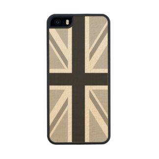 Union Jack/Flag Monochrome Wood iPhone SE/5/5s Case