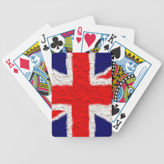 Union jack flag national country bicycle playing cards