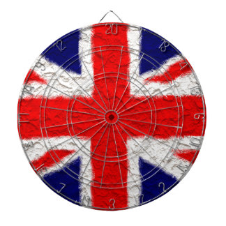 Union jack flag national country dartboard