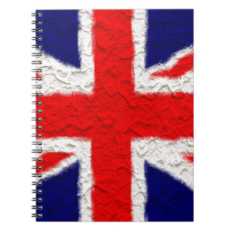 Union jack flag national country notebook