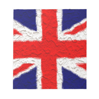 Union jack flag national country notepad