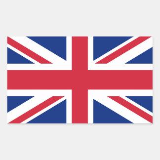 Union Jack flag of the UK - Authentic version Rectangular Sticker