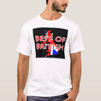 Union Jack Flag on Map - Best of British T-Shirt