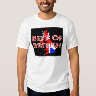 Union Jack Flag on Map - Best of British Tshirts
