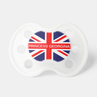 Union Jack Flag royal baby custom name pacifier