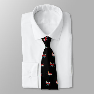 Union Jack Flag Royal Lion and Crown Tie