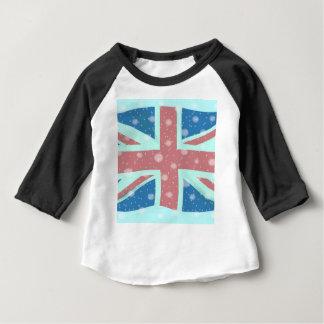 Union Jack Flag Snowflakes Baby T-Shirt