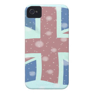 Union Jack Flag Snowflakes Case-Mate iPhone 4 Cases